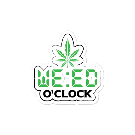 Weed O'Clock Bubble-free stickers