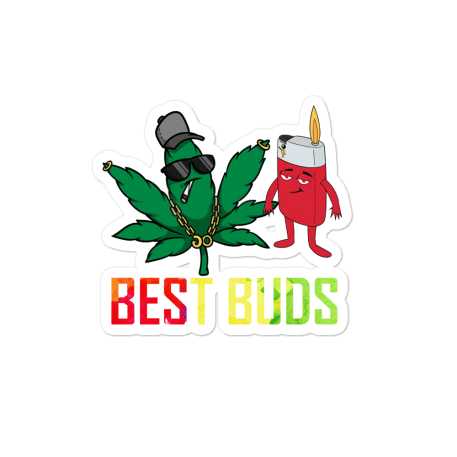 Best Buds Bubble-free stickers